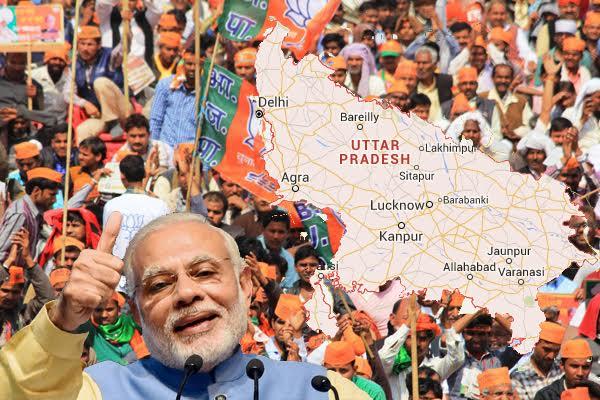 انتخابی رجحانوں سے بی جے پی میں خوشی کی لہر، جشن کا ماحول