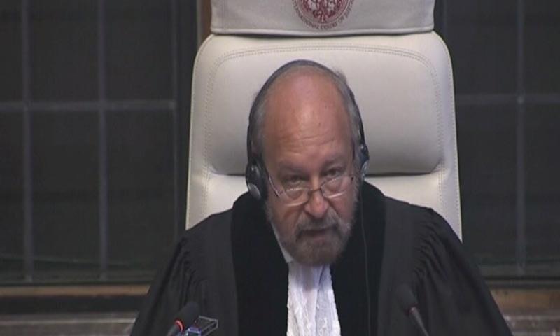 فیصلہ آنے تک پاکستان کلبھوشن کو پھانسی نہ دے ؛ عالمی عدالت انصاف کے جج رونی اَبراہم