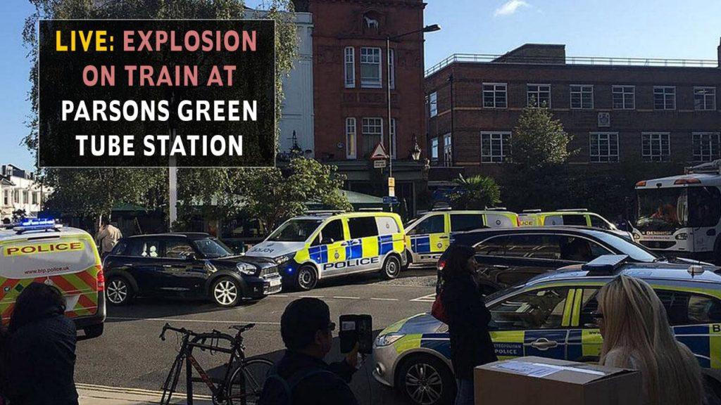 لندن کے ٹیوب ریل اسٹیشن پر دھماکہ