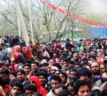 کشمیر میں خواتین کی جبری بال تراشی کے خلاف نیشنل کانفرنس کی احتجاجی ریلی