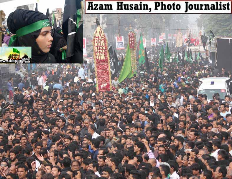 لکھنئو میں عقیدت و احترام سے منایا گیا چہلم امام حسین ع