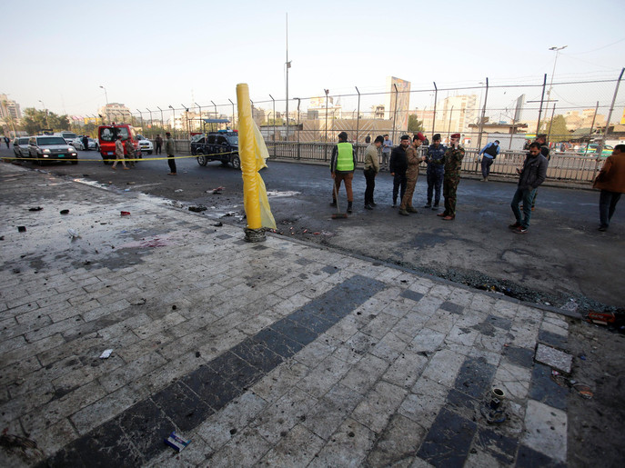 عراق : بغداد میں دو بم باروں نے کیا خود کش حملہ، افراد جاں بحق، 105 سے زیادہ زخمی