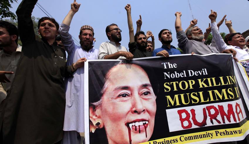 میانمار کے رخائن میں ہوئے پرتشدد مظاہرہ میں سات افراد ہلاک