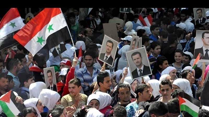 امریکی حملوں کے خلاف شامی عوام سڑکوں پر