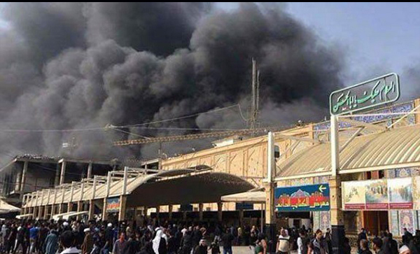 نجف اشرف میں حضرت علی (ع) کے حرم کے قریب آتشزدگی