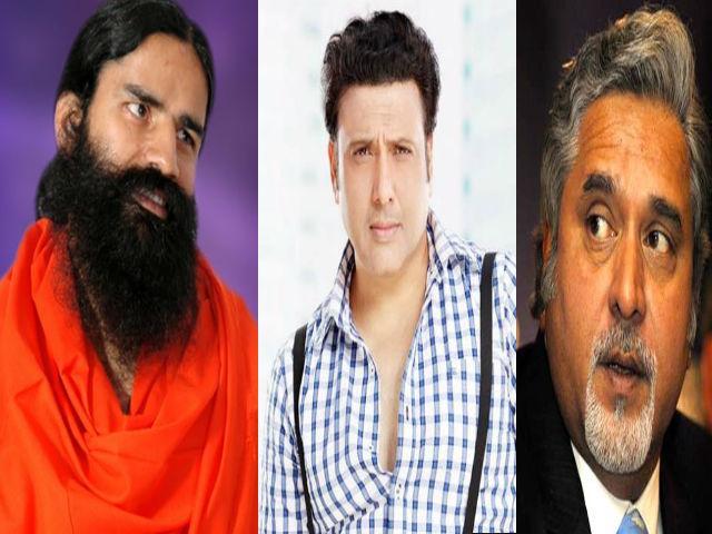 وجے مالیا اور بابا رام دیو سے متاثر کردار ادا کریں گے گوندا