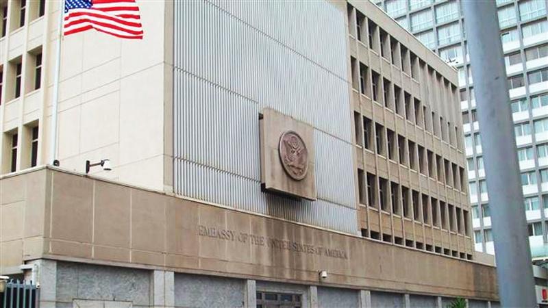 مقبوضہ بیت المقدس میں امریکی سفارتخانے کی استقبالیہ تقریب ناکام