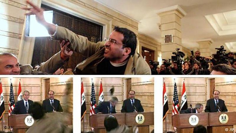 سابق امریکی صدربش کو جوتا مارنے والے صحافی کی عوامی مقبولیت