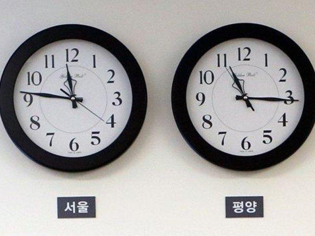 شمالی کوریا نے اپنا وقت جنوبی کوریا سے ملالیا