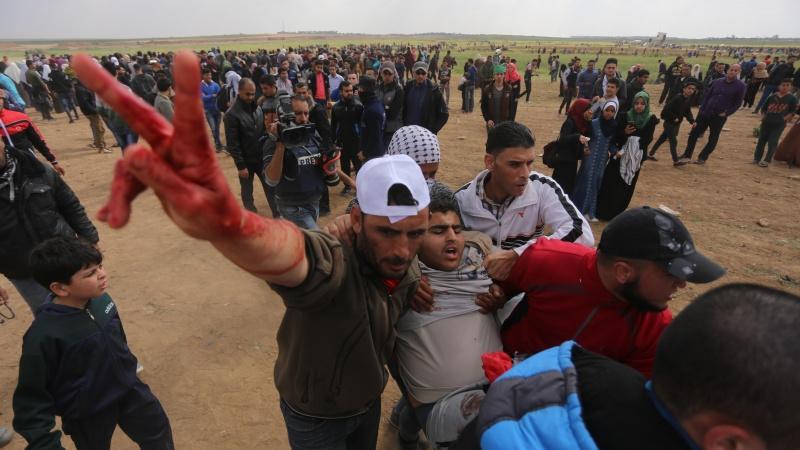 اسرائیل کا حملہ، 1143 فلسطینی زخمی
