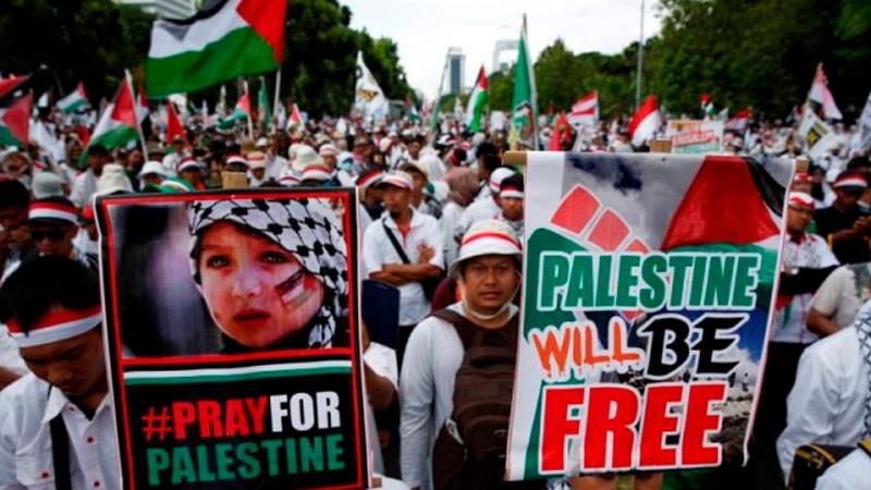 جکارتہ سے لندن تک اسرائیل کے خلاف احتجاج