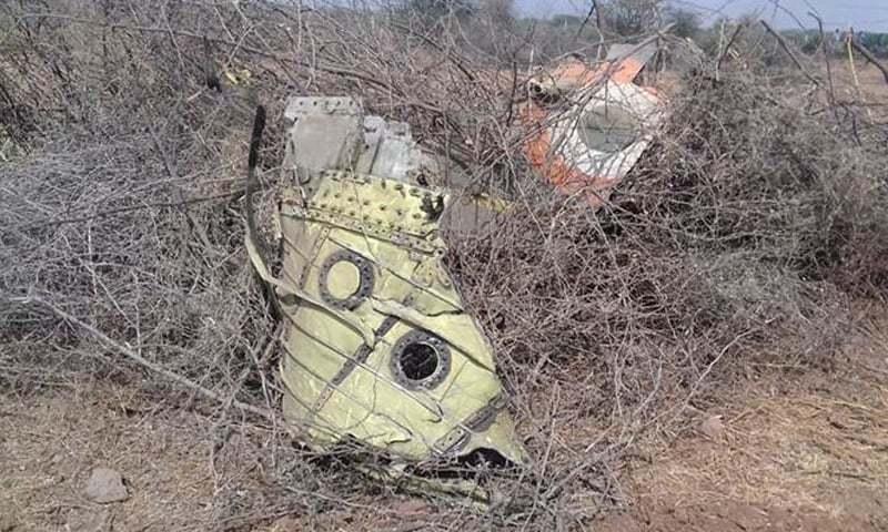 ہندوستان کا جنگی طیارہ گرکر تباہ، پائلٹ ہلاک