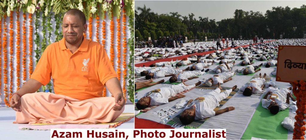 चौथा अंतरराष्ट्रीय योग दिवस 2018 | राज्यपाल राम नाईक संग योगी, राजनाथ ने किया योग