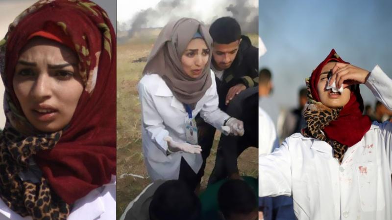 فلسطین کی سرگرم رضاکار نرس رزان اشرف النجار شہید