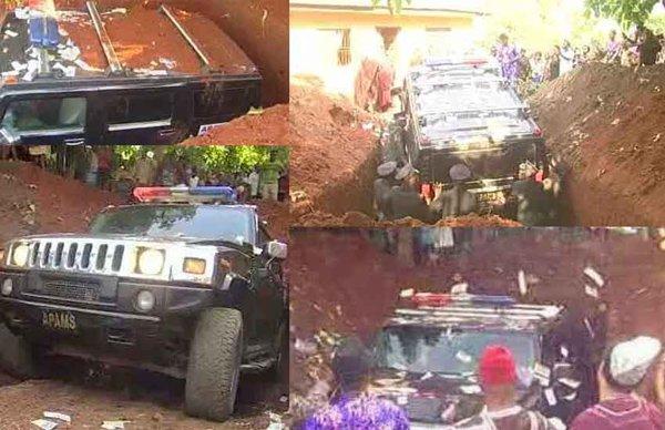 نائیجیریا کے باشندے نے والد کو نئی بی ایم ڈبلیو کار میں رکھ کر دفنا دیا
