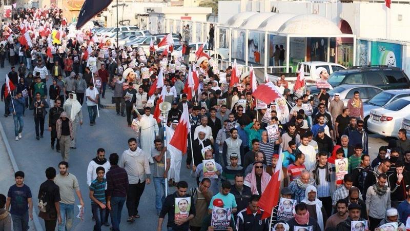آل خلیفہ حکومت کے خلاف بحرینی عوام کے مظاہرے