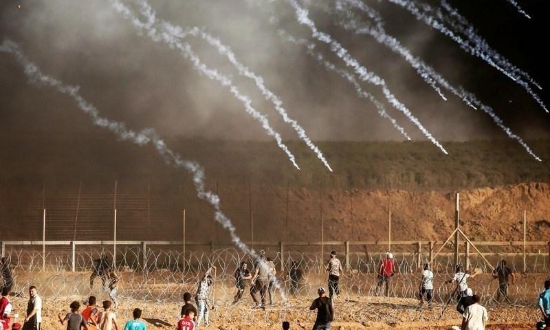 غزہ: احتجاجی مظاہرین پر اسرائیلی فوج کا حملہ، 3 فلسطینی جاں بحق