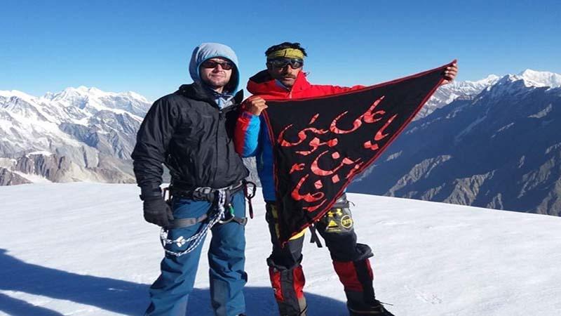 امام رضاؑ کا علم قراقرم کی 6250 میٹربلند چوٹی پر