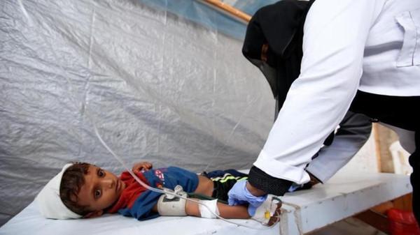 یمن میں تیسری مرتبہ ہیضہ کی وباء پھوٹ پڑی، متاثرہ افراد کی تعداد میں اضافہ