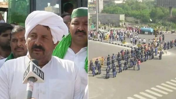 کسانوں پر دہلی پولیس کی لاٹھی چارج ،آنسوگیس کے گولے چھوڑے