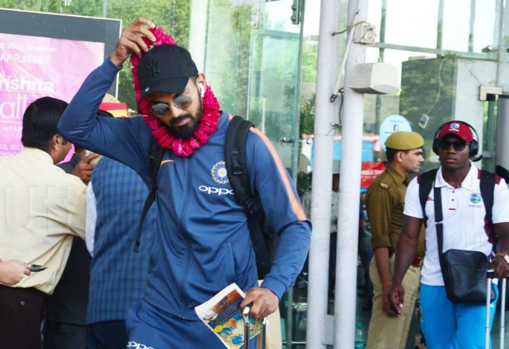 بھارت اور ویسٹ انڈیز کل میچ ٹیم لکھنو پہنچ گئی