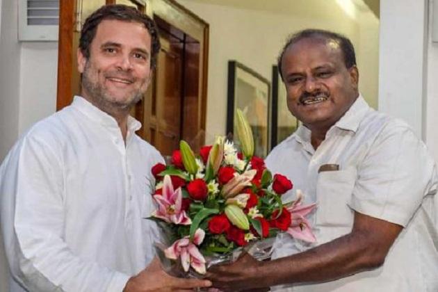 کرناٹک ضمنی الیکشن : کانگریس۔ جے ڈی ایس کو ریاست کے عوام نے دیا 5 میں سے 4 سیٹوں کا' دیوالی گفٹ'۔