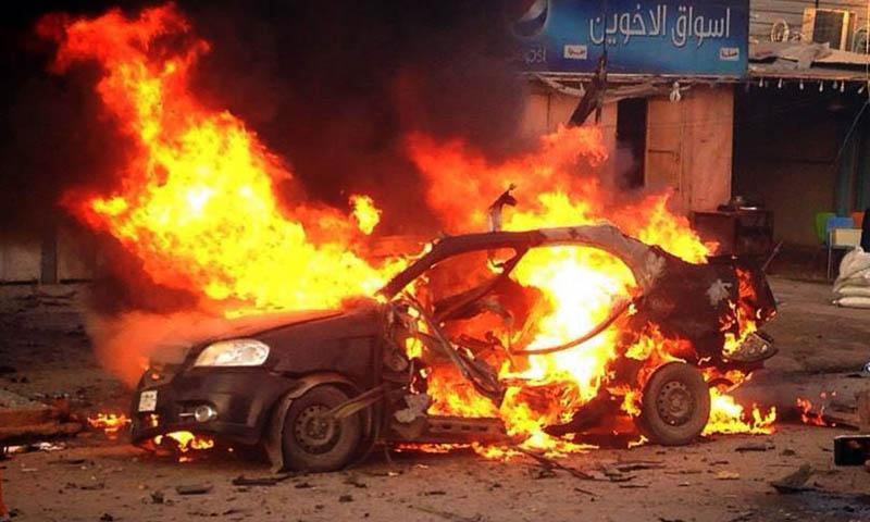 عراق میں کار بم دھماکہ ، دو ہلاک، پانچ زخمی