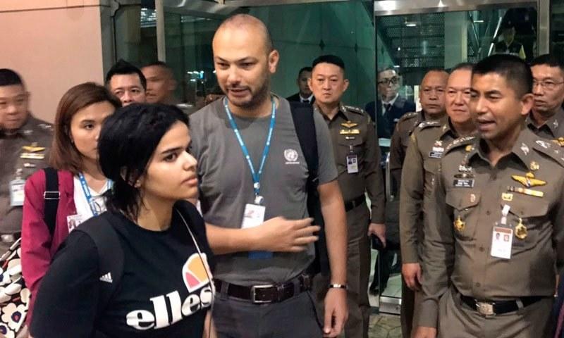اہلِ خانہ سے فرار سعودی لڑکی کو قانونی پناہ گزین کا درجہ مل گیا