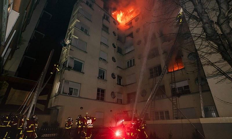 پیرس کی عمارت میں آگ لگنے سے 8 افراد ہلاک