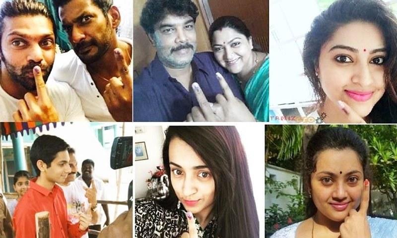 بھارتی اداکاروں کی عوام سے ووٹ کاسٹ کرنے کی فرمائش