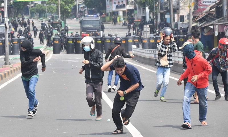 انڈونیشیا: انتخابی نتائج کے خلاف شدید احتجاج، جھڑپوں میں 6 افراد ہلاک