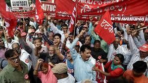भारत बंद : श्रमिकों के हित में सड़क पर उतरीं 10 ट्रेड यूनियनें