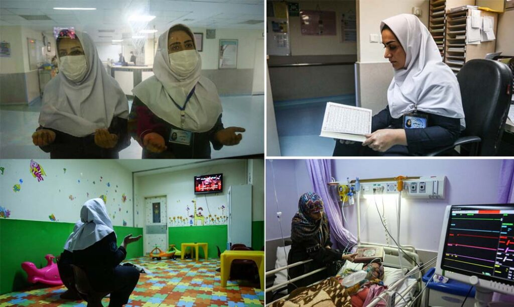 کرونا وائرس کا قہر- قم کے امام رضا اسپتال میں شب قدر کی منتخب تصاویر